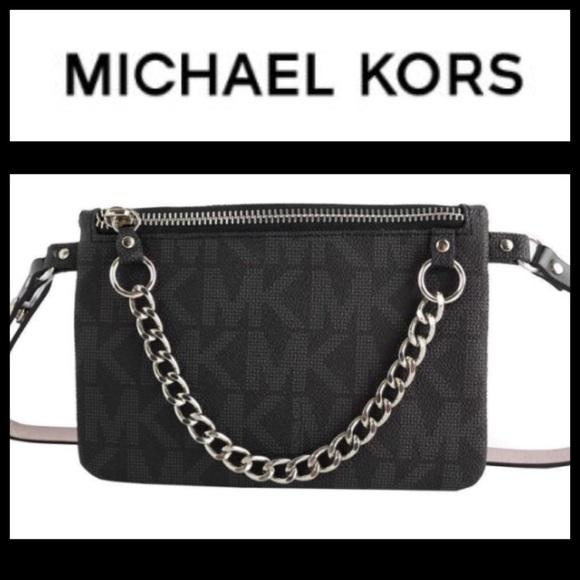 ada8f5cddd30 Michael Kors Black Belt Bag Fanny Pack Sz XL NEW